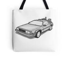 Back to the Future Delorean  Tote Bag
