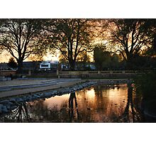 Pink Sunset at the Park Photographic Print