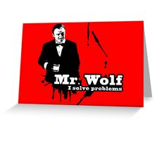 Mr. Wolf Greeting Card