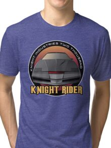 Knight Rider Logo KITT Car Tri-blend T-Shirt