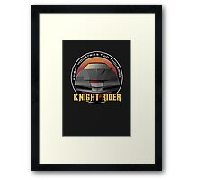 Knight Rider Logo KITT Car Framed Print