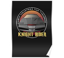 Knight Rider Logo KITT Car Poster