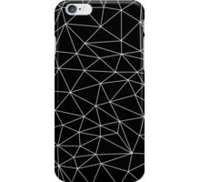 Black Abstract Lines iPhone Case/Skin