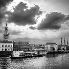 Riverside town in black and white by pahas