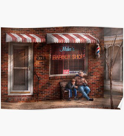 Barber - Metuchen, NJ - Waiting for Mike Poster