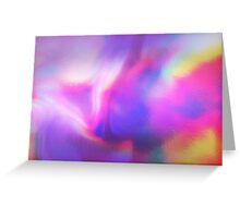 Holographic texture Greeting Card