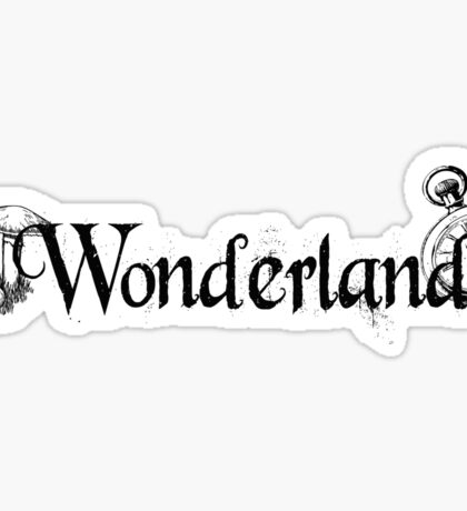 Wonderland - Black Sticker