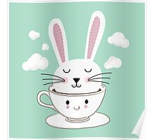 Take a Cup of Bunny Poster