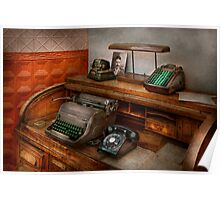 Accountant - Typewriter - The accountants office Poster
