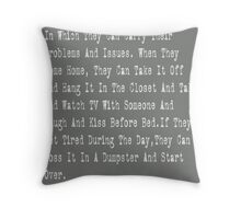 Backpack Prose Throw Pillow