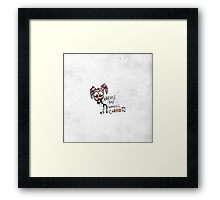 "Hand Drawn ""Where's My F***ing Carrots?"" Bunny Framed Print"