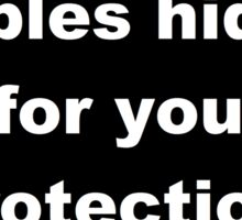 Nipples hidden for your protection Sticker