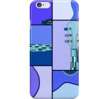 Modern Pop Art Acoustic Guitar in Blues iPhone Case/Skin