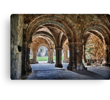 Kirkstall Abbey Chapter House (HDR) Canvas Print