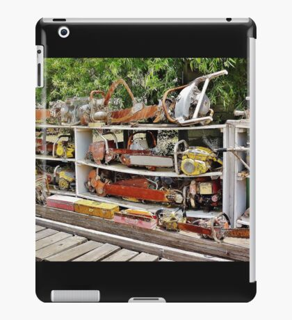 The Wall of Old Chainsaws iPad Case/Skin
