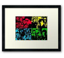 pop art Cross Over Silhouette Framed Print