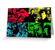 pop art Cross Over Silhouette Greeting Card