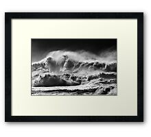 Winter Waves At Pipeline Framed Print