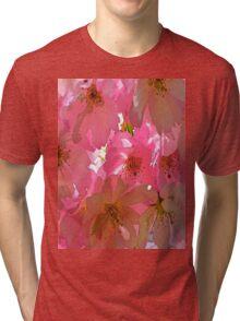 Pink Cherry Blossoms  Tri-blend T-Shirt