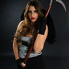 Grim reaper female DEATH carrying scythe by PhotoStock-Isra