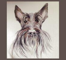 Scottish terrier – watercolour head study Kids Clothes
