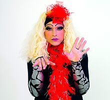Drag Queen with blond wig by PhotoStock-Isra