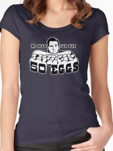 Cool Hand Luke: No man can eat 50 eggs Women's Fitted Scoop T-Shirt