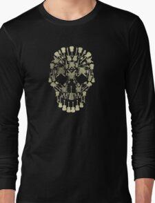 Musical Instruments Rock Skull Long Sleeve T-Shirt