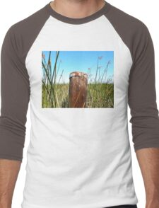 The Lonely Old Post in the Wetlands Men's Baseball ¾ T-Shirt