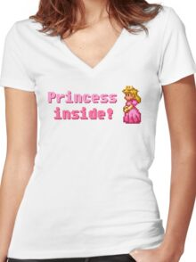 Princess inside! Women's Fitted V-Neck T-Shirt