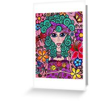 Lady of Spring, Creations by Linz Greeting Card