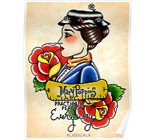 Maria Poppins lady head Poster