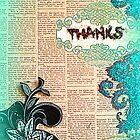 Thank you card by Lucinda S. Rusted by ©The Creative Minds