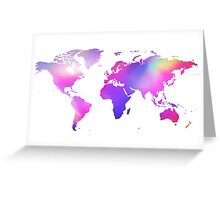 Holographic map Greeting Card
