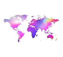 Holographic map Photographic Print