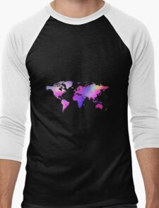 Holographic map Men's Baseball ¾ T-Shirt