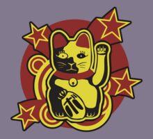 Maneki Neko Chinese Lucky Cat Kids Tee