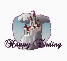 FAIRY TALE magical happy ending castle tee  Kids Tee