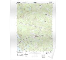 USGS TOPO Map New Hampshire NH Candia 20120508 TM Poster