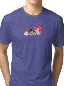 Forest Mushrooms Tri-blend T-Shirt