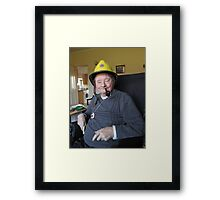 The fire chief Framed Print