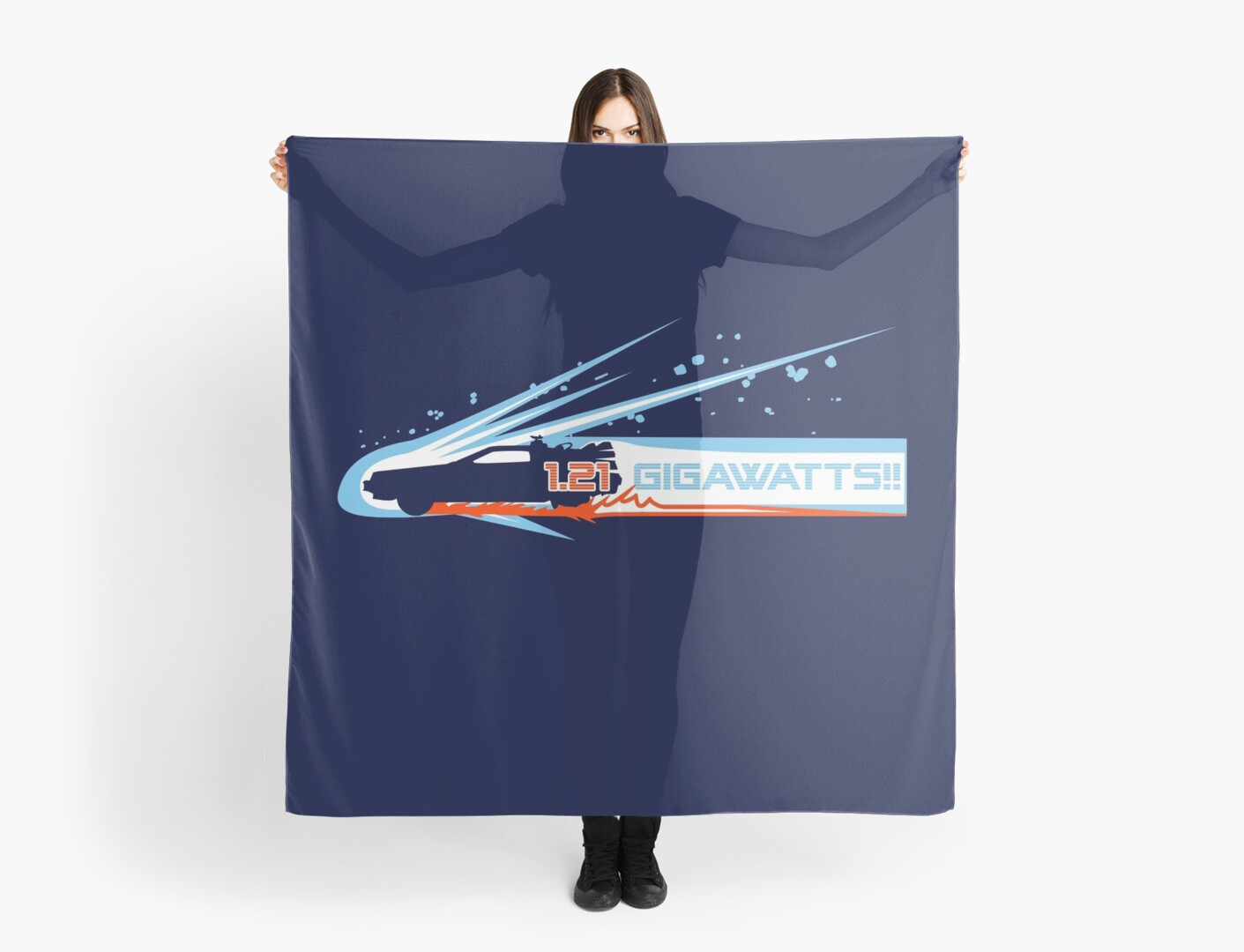 gigawatts scarves by dutyfreak redbubble. Black Bedroom Furniture Sets. Home Design Ideas