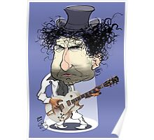 Caricature of Bob Dylan Poster