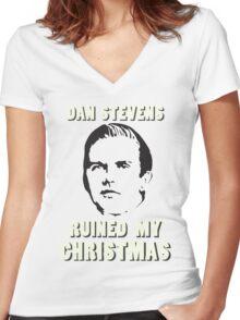 Dan Stevens Ruined Christmas Women's Fitted V-Neck T-Shirt