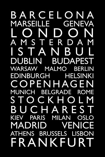 Europe Cities Bus Roll by Michael Tompsett