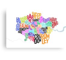 London UK Text Map Canvas Print