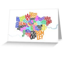 London UK Text Map Greeting Card