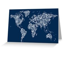 Butterflies Map of the World Map Greeting Card