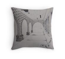 Abandoned Bath House, Sharon Springs NY Throw Pillow