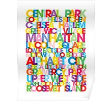 Manhattan Boroughs Bus Blind Poster